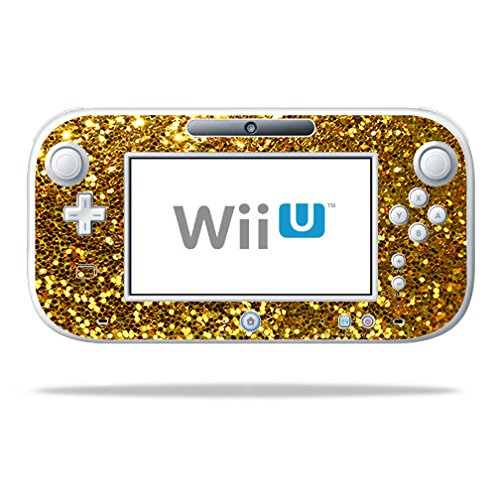 MightySkins Skin for Nintendo Wii U Gamepad Controller – Gold Dazzle | Protective, Durable, and Unique Vinyl Decal wrap Cover | Easy to Apply, Remove, and Change Styles | Made in The USA - Wii Golds