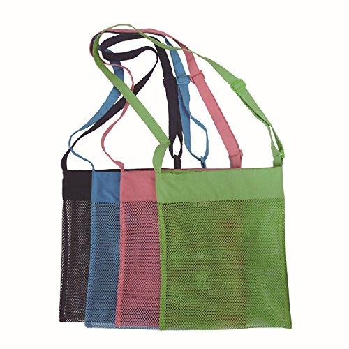 (Rimobul Sand Away Beach Treasures Seashell Pocket Mesh Bags - Set of 4(Large))