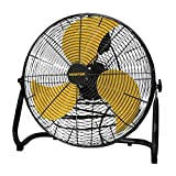 Master PROFESSIONAL MAC-12F High Velocity Direct Drive Floor Fan, Black