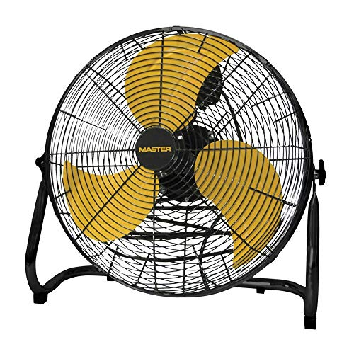 Master PROFESSIONAL MAC-12F High Velocity Direct Drive Floor Fan Black