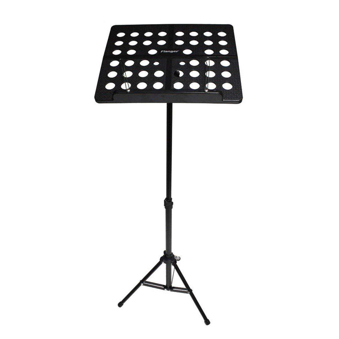 Heaviesk Soporte de música Flanger FL-05R Aleación de Aluminio Plegable Soporte de música Soporte de trípode Soporte de Instrumento Musical con Bolsa de Transporte