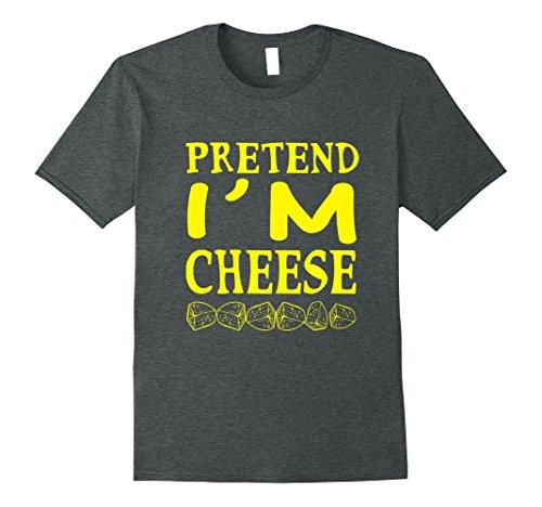 Mens Pretend I'm A Cheese - Funny Costume T-Shirt Halloween Gift XL Dark Heather