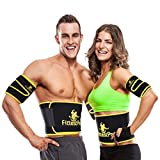 Fittest Pro Waist Trimmer Slimming Flex Sauna Belt - Belly, Fat Loss, Weight Loss Belt - Ab Trainer, Back Brace & Abdominal Support (Medium : 8