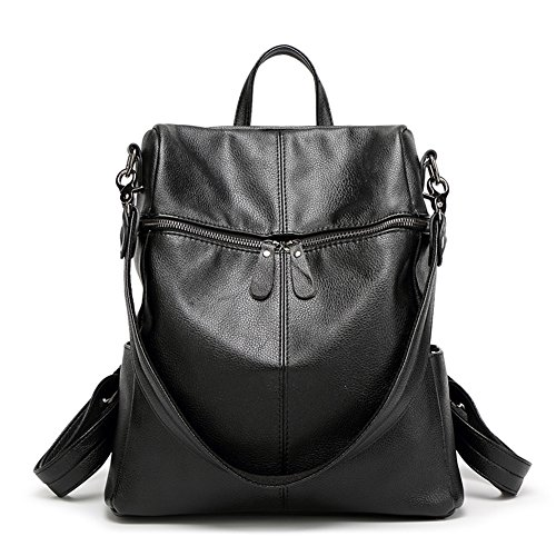 Weimi Mochila Pu Viaje Bolsas De Cuero Moda Negro Muchacha qqrw6Pg