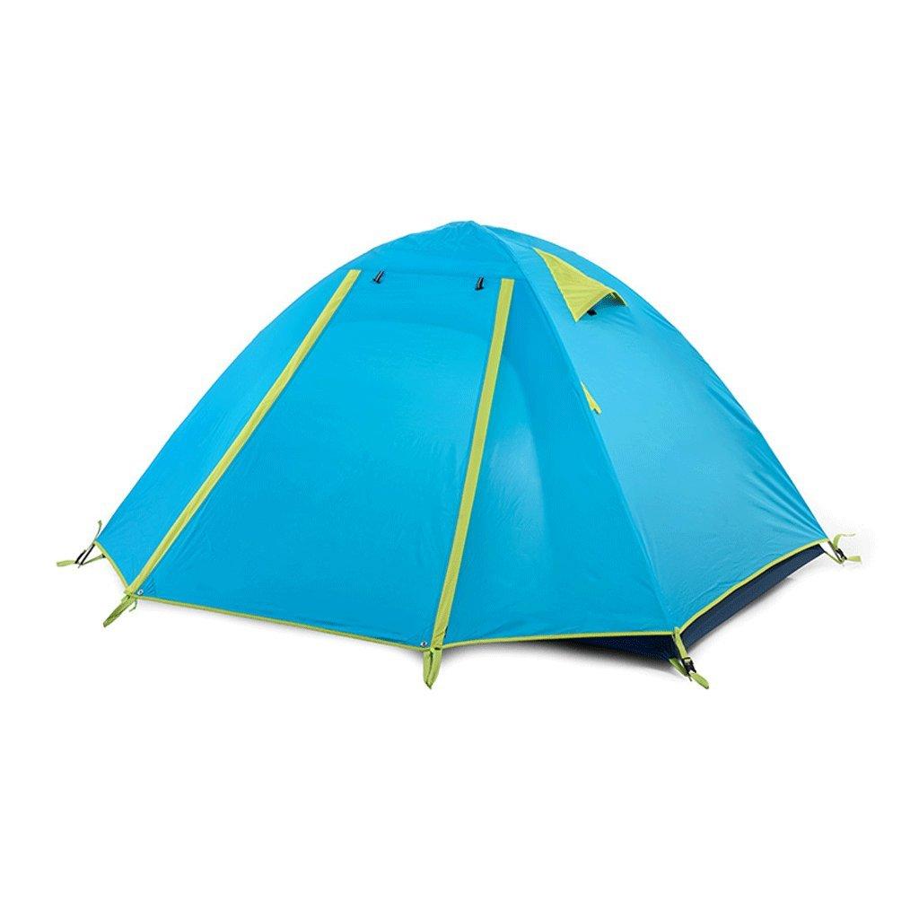 TLMY アウトドアダブルテントダブルキャンプキャンプテント テント (色 : 青)  青 B07GLJW6TY