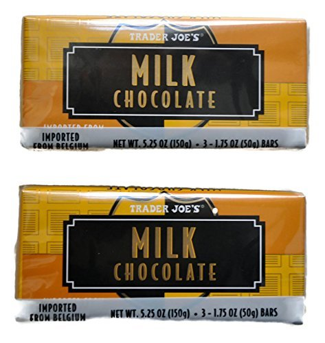 Belgian Chocolates Milk - Trader Joe's Belgian Milk Chocolate Bars, 1.75 oz (2 Packs of 3)