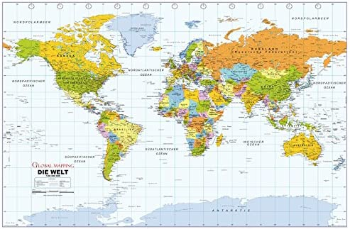 Amazon Com Political World Wall Map German Language Politische