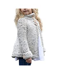 Toddler Little Girls Outfit Clothes, Knitted Sweater Cardigan Coat Outerwear