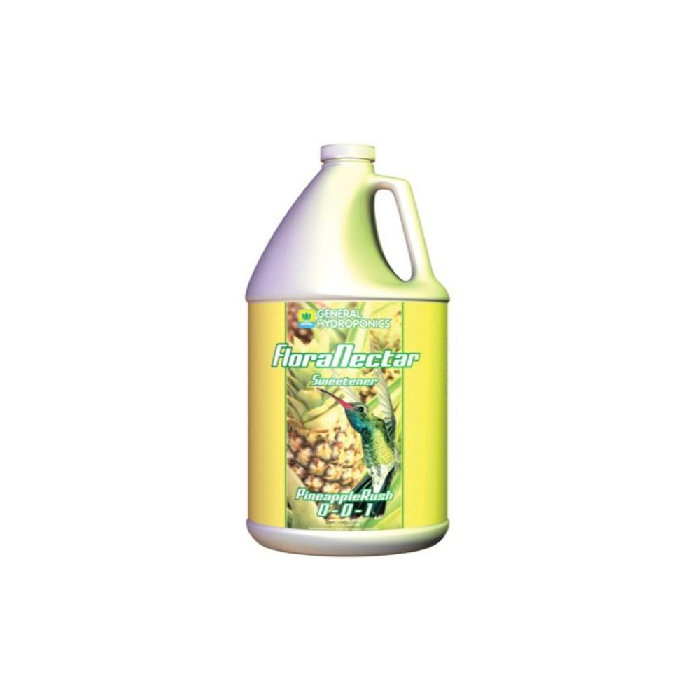 Sunlight Supply General Hydroponics FloraNectar Pineapple Rush Sweetener — 0-0-1 Formula, 1 Gallon