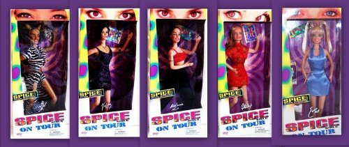 New/Sealed 1997 Galoob Toys Spice Girls On Tour Series Complete Set Of 5 (Child Tour Ticket)