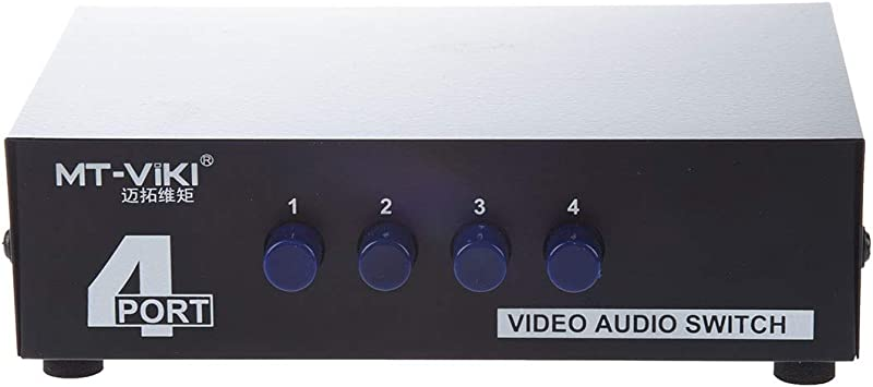 REFURBISHHOUSE 4 Via Caja de Interruptor RCA Audio Video AV para Xbox DVD TV: Amazon.es: Electrónica