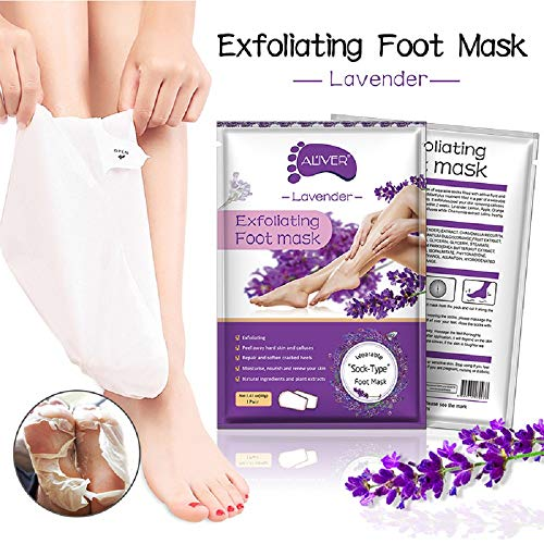 Exfoliating Foot Mask 2 Pack,Exfoliating Callus Remover,Soft Touch Foot Peel Mask Make Your Feet Baby Soft by cftjhjm