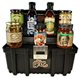 Spicy Sweet Toolbox Gourmet Gift Set - Hot Sauce Food Basket for Men & Women by Just Enough Heat
