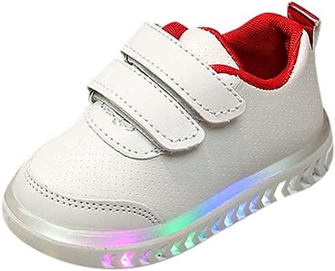 Zapatillas para Niños Niñas con Luces Deportivas Invierno PAOLIAN Zapatos de Deportes LED Niños Unisex Running Calzado Bebes Primeros Pasos Bautizo Suela Dura Velcro 1-7 Años: Amazon.es: Zapatos y complementos