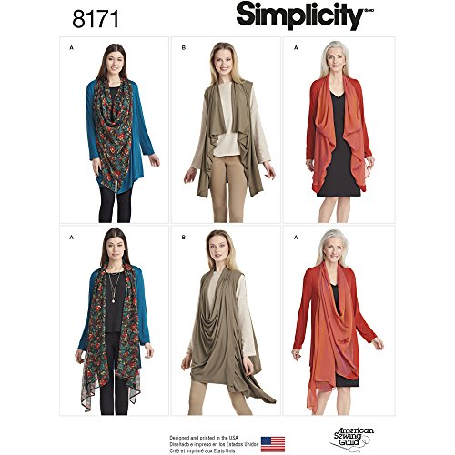 - Simplicity Pattern 8171 Misses' Knit Cardigan or Vest Size A (XXS-XS-S-M-L-XL-XXL), A (A (XX-Small/X-Small/Small/Medium/Large/X-Large/XX-Large)