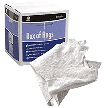 CRL White T-Shirts Box of Rags