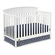 Graco Benton 5-in-1 Convertible Crib, White Easily Converts to Toddler Bed, Day Bed or Full Bed, 3 Position Adjustable Height Mattress