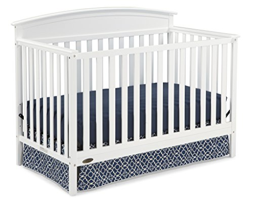 Graco Benton 4-in-1 Convertible Crib (White) - Easily Converts to Toddler Bed, Daybed or Full-Size Bed with Headboard, 3-Position Adjustable Mattress Support ()