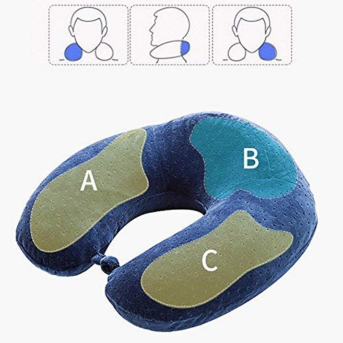HYW mall Airplane Travel U - Shaped Pillow Pin Memory Pillow Comfort Neck Pillow Airplane Passenger Car Relieve Pain (Pin Pillow)