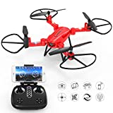 GoolRC T32 RC Drone Foldable with HD Camera Headless Mode 2.4GHz 4 Channel 6 Axis RTF RC Quadcopter Height Hold Easy Fly for Learning(RED)