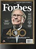 THE FORBES 400 MAGAZINE, SPECIAL EDITION OCTOBER, 07th 2013