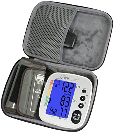 Hard Travel Case for Care Touch Fully Automatic Upper Arm Digital Blood Pressure Monitor by co2CREA