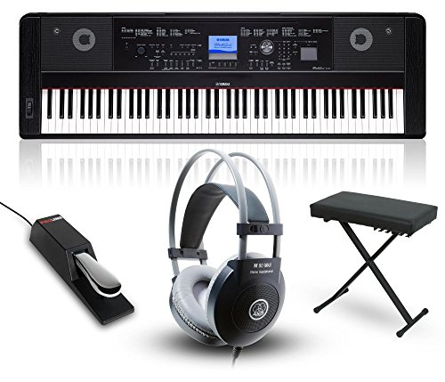 Yamaha DGX660 88-Key Portable Grand Piano Packages Black Home Package