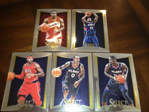 2012 - 13 Panini Select Basketball Cards Atlanta Hawks Team Set - Al Horford Anthony Morrow Jeff Teague Josh Smith Spud Webb ()