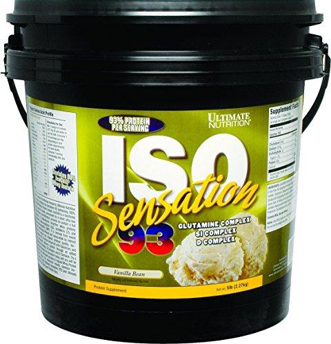 Ultimate Nutrition ISO Sensation 93 Vanilla Bean, 5LB Tub
