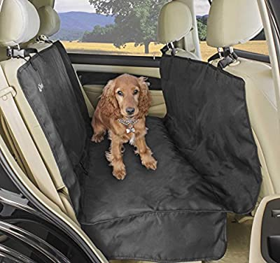 A2S Luxury Hammock Pet Seat Cover & Cargo Cover 3 Layers Waterproof - Extra Dog Seat Belt & Convenient Zipper - Non-Slip for Cars, SUVs & Trucks with Double Flaps & Absolutely Comfortable