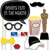Custom Movie - Hollywood Party Photo Booth Props - Personalized Prom, Homecoming and Oscar Party Supplies - 20 Selfie Props