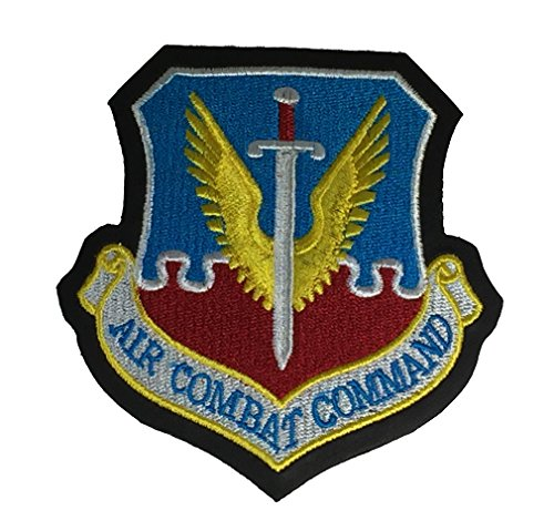 USAF AIR COMBAT COMMAND FAUX LEATHER Patch - Color - Veteran Owned Business (Command Patch Air Combat)