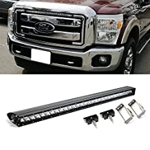 "iJDMTOY 30"" 150W Single Row CREE LED Light Bars w/ Grille Mount Brackets & Switch Relay Wires For 2011-2016 Ford F-250 F-350 Super Duty"