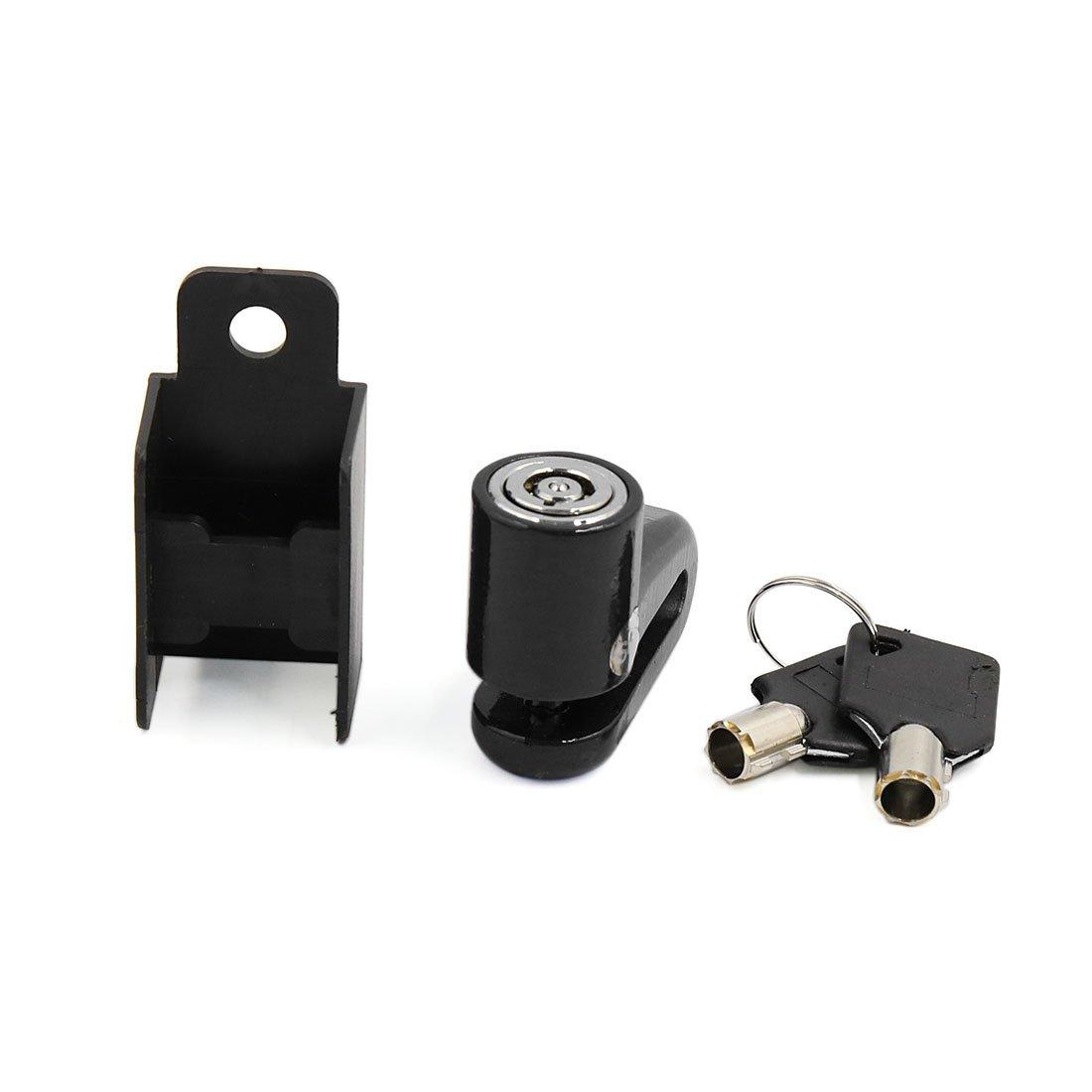 sourcingmap® seguridad antirrobo de disco de freno de bloqueo del protector Negro con 2 Clave Pieza Recambio para moto a16083100ux0724