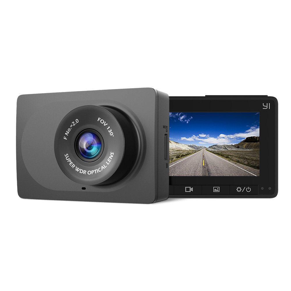 YI Autokamera Dashcam Dash Camera Full HD 2.7K Auto DVR mit Nachtsicht 130° Weitwinkelobjektiv(C1A)
