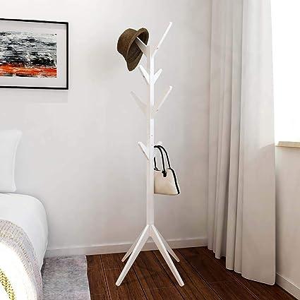 coat rack Perchero De Madera_4 Niveles 8 Gancho Sombrero ...