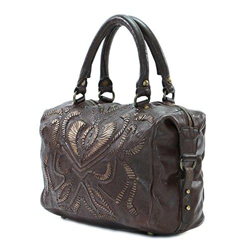 old-trend-leather-satchel-handbag-pebble-breeze-purse-coffee