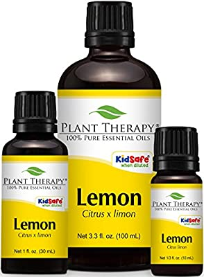 Lemon Essential Oil (Cold Pressed). 100% Pure, Undiluted, Therapeutic Grade. from Plant Therapy Essential Oils