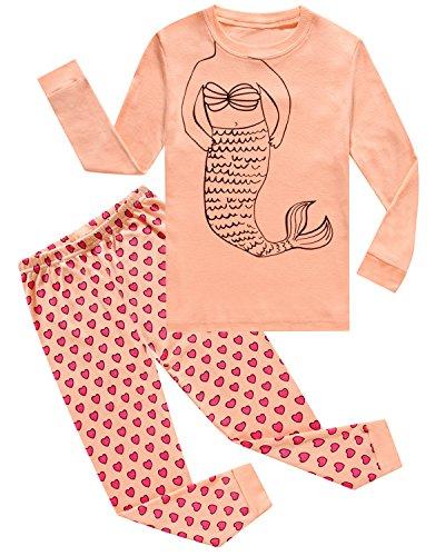 IF-Pajamas-Mermaid-Baby-Girls-Long-Sleeves-Sleepwear-Pajamas-100-Cotton-Clothes-Infant-Toddler-Kid-12-18-Months