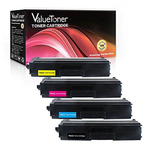 Valuetoner Compatible for Brother TN433 TN-433 TN431 TN 431 Toner Cartridge (Black/Cyan/Magenta/Yellow) 4 Pack for Brother MFC-L8900CDW HL-L8360CDW HL-L8260CDW HL-L8360CDWT MFC-L8610CDW MFC-L9570CDW