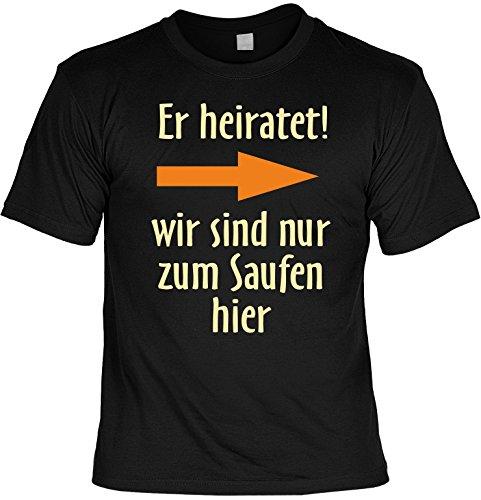Junggesellenabschied witziges Shirt für Junggesellenfeier Ehe JGA Shirts JGA Outfit JGASHIRT Polterabend Hochzeit - ER heiratet