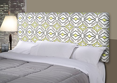 MJL Furniture Designs Alice Padded Bedroom Headboard Contemporary Styled Bedroom Décor, Eden Series Headboard, Lemon Finish, California King Sized, USA Made (Bedroom King Headboard California)