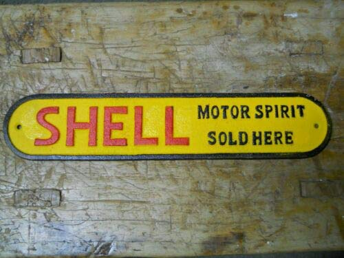 JumpingLight Cast Iron Shell Motor Spirit Sold HERE Sign Plaque Gas Oil Pump Plate Door Push Cast Iron Decor for Vintage Industrial Home Accessory Decorative Gift