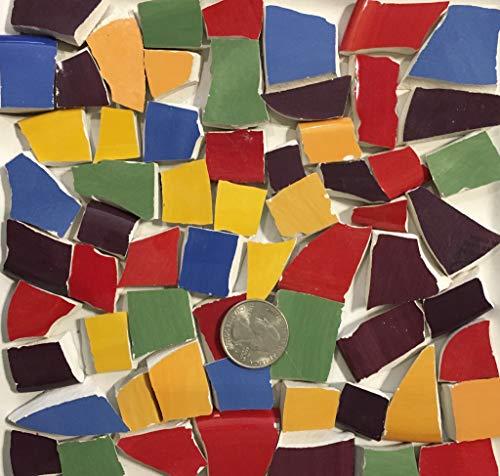 Mosaic Art & Crafts Supply ~ Red Blue Green Purple & Yellow Tiles ()
