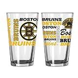 NHL Bruins - Spirit Pint Glasses (2)   Boston Bruins 16 oz. Beer Pints - Set of 2