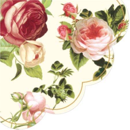 Amazon round paper napkins lucy pink roses decoupage health round paper napkins rosalia pink yellow purple pale pink roses decoupage 24pcs mightylinksfo