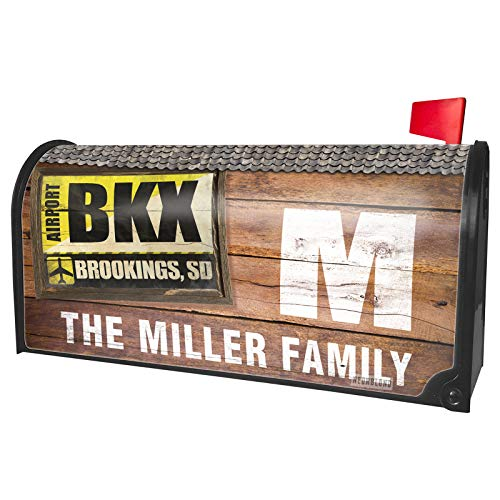 NEONBLOND Custom Mailbox Cover Airportcode BKX Brookings, -