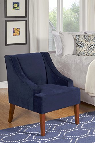 Amazoncom Accent Chair With Arms And Velvet Fabric Blue Blue