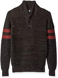 G-Star Raw Men\'s Dadin Sport Shawl Collar Sweater, Dark Black/Asfalt, Medium