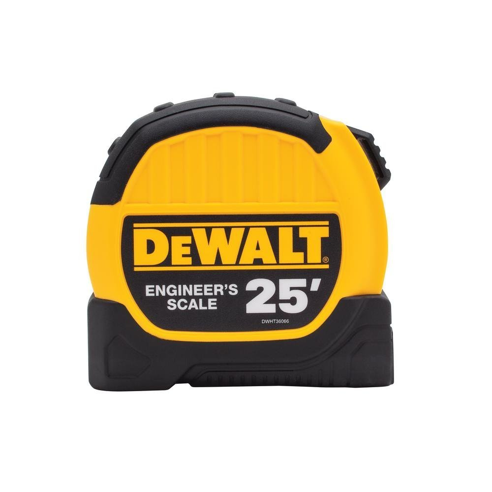 Dewalt DWHT36066S 25ft. Engineer Scale Tape Measure Black and Yellow